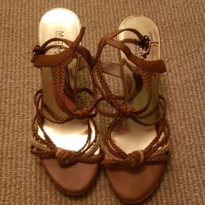 Michael Kors Braided Wedges size 7.5